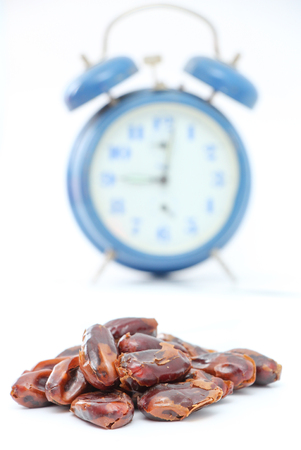 picture of a Dried dates (fruits of date palm Phoenix dactylifera).