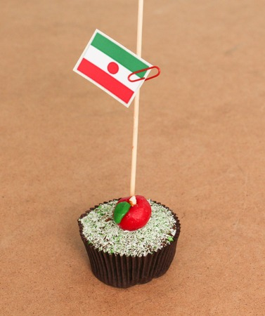 niger: niger flag on a apple cupcake,picture of a