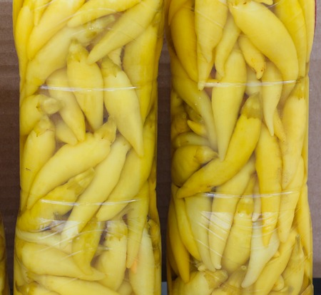 botellas pet: preserved chili pepper in plastic pet bottles fo sale