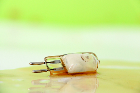 picture of an damaged Car light bulb Stock Photo