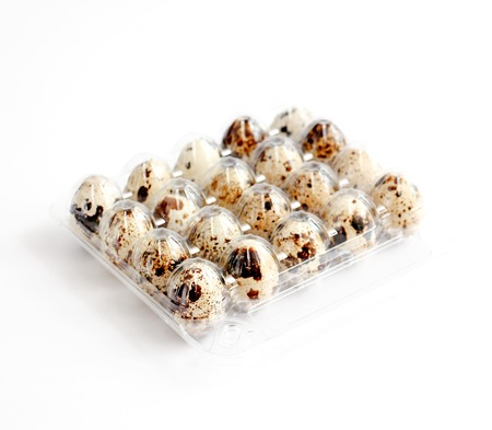 picture of a japanese quail eggs ,food and health concept Stock Photo