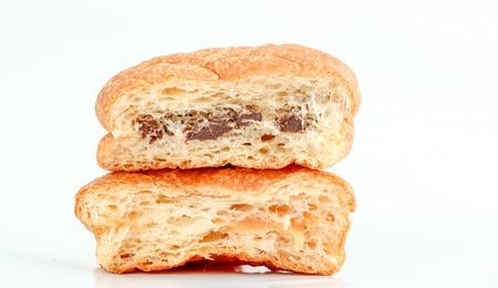 puff: pieces od puff pastry stuffed with milk cream dulce de lache and cocoa cream