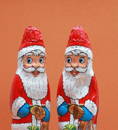 picture of a chocolate santa claus. studio shot, holiday concept
