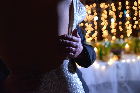 image of a dance of a bride and groom Archivio Fotografico