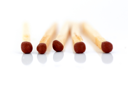 shallow: Matches on white background Stock Photo