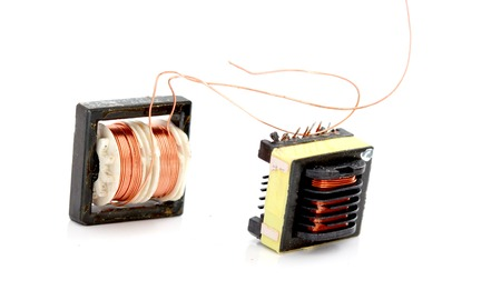 Small device Transformer on white background,image of a Stock Photo