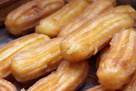 Turkish traditional dessert called Tulumba,image of a