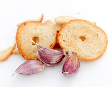 Slice of bake rolls , with garlic flavor , image of a