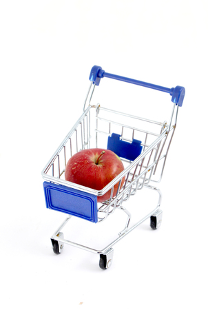 shopping cart isolated on white background, image of a