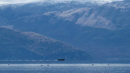 lake prespa macedonia Stock Photo