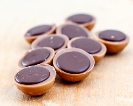 Caramel Candy with Hazelnut and Chocolate,image of a