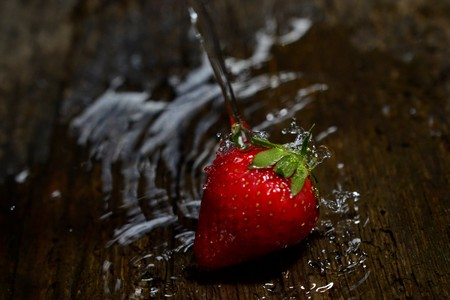 Strawberry. Fresh berry fruit, spring food concept