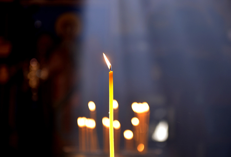 bruning candle in an orthodox church