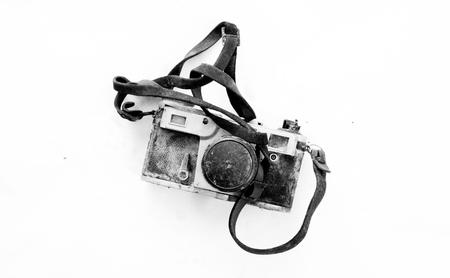 vintage rusty and dusty film camera Foto de archivo