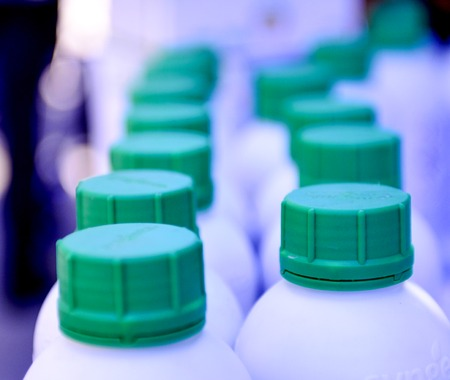 plastic bottles, container for chemical products, image of a 写真素材
