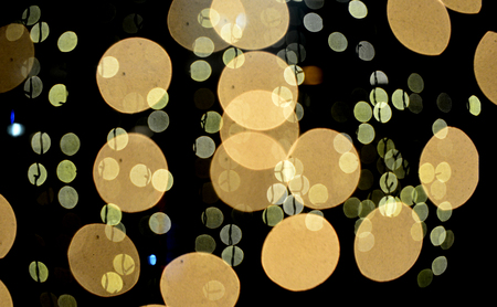 abstract bokeh lights on black background image