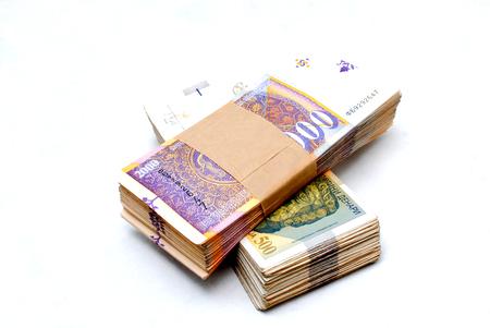 banknote, money ,denar curency of macedonia on white