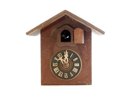 vintage Cuckoo Clock on white background image of a