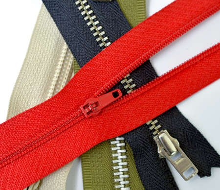 close up image of a zippers . Banque d'images
