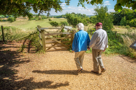 90 year old man takes his wife,who has severe sight loss to Danebury Ring in Wiltshire to get her out in nature and away from the confines of her house bound lifestyle.She has accute macular degeneration.