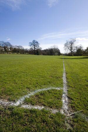enfield: Angolo di calcio campi da gioco, Southgate Enfield Londra Inghilterra Archivio Fotografico