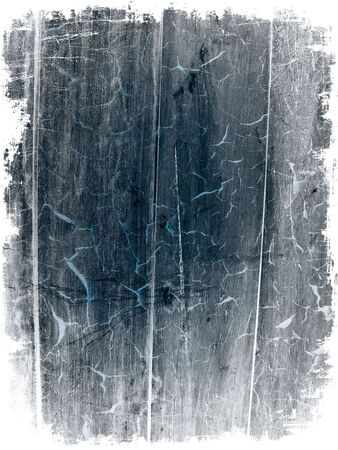 Distressed wooden background made from several photographs, with rough white border