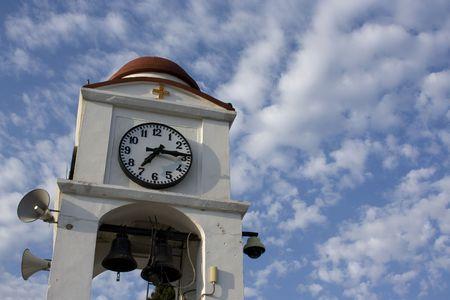 skiathos: Clock tower in Skiathos Town, Greece