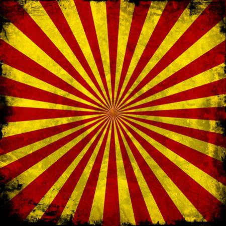 fondo de circo: Lamentando borde en rojo de fondo Starburst cuadrado amarillo