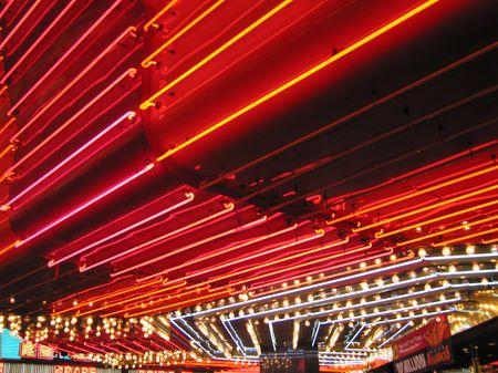 Flashing Neon Signs of Freemont Casino Las Vegas