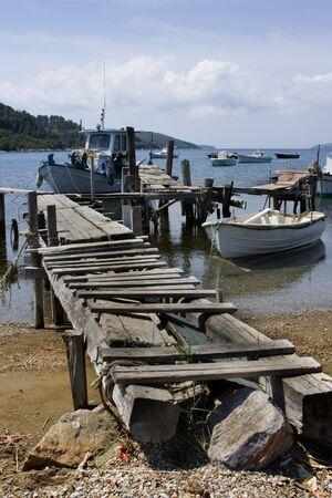 skiathos: Broken jetty, Skiathos Harbor