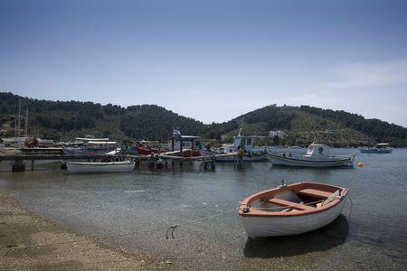 skiathos: Rowing boats in Skiathos Harbor, Greece
