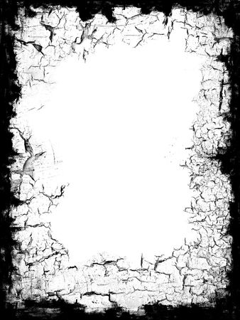 Distressed black frame border with white blank middle for your own design