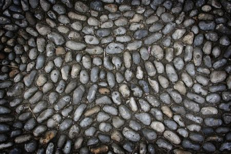 Background pattern of pebbles from photo