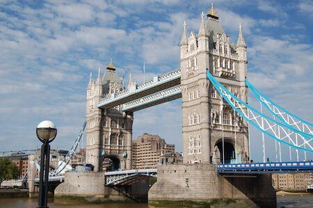 Tower Bridge over River Thames, London, England
