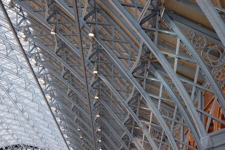 St. Pancras International railway station roof Stock Photo - 5633297