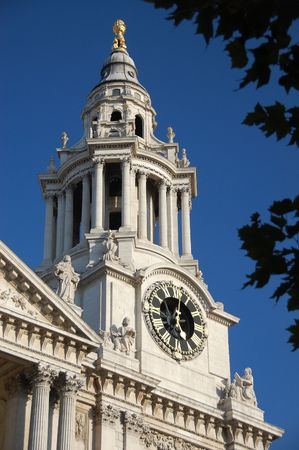 cylindrical: Clocktower of St Pauls Cathedral, London, England
