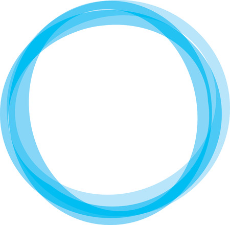 motions: Retro styled interlocking circles in shades of blue Illustration