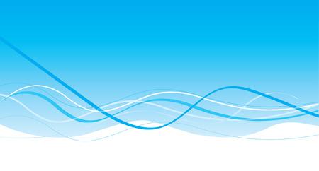 Editable light blue wave design Vector