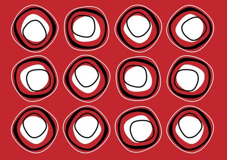 siebziger jahre: Dunkelrot wiederholen Muster der siebziger Jahre wallpaper
