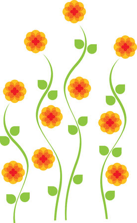 Bright yellow tall daisy flower Stock Vector - 6454049