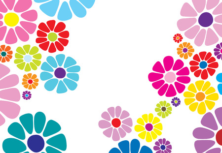 Colorful daisy flower  possible business card