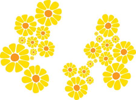 Bright yellow daisy flower Vector