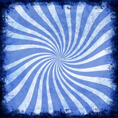 Blue spiral background with rough edge 写真素材