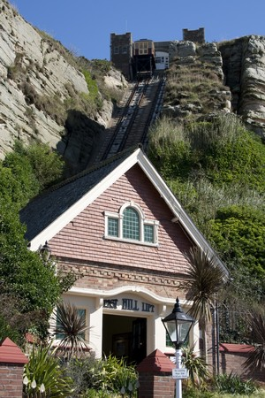 hastings: Victorian funicular railway in Hastings