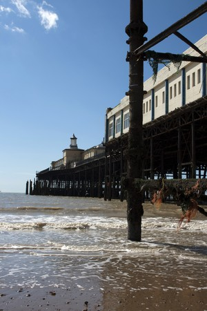 Hastings Pier, East Sussex, before it was destroyed in fire 5th October 2010 photo