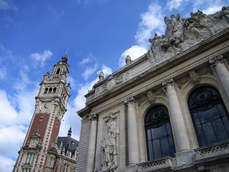 The Opera and Chamber of Commerce Buildings Lille France