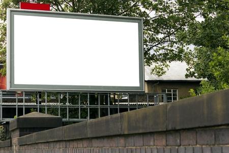 Large blank billboard for your design
