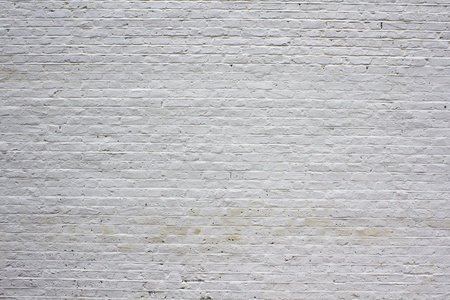 the white wall: Brick wall painted white