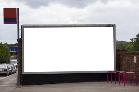 Large black billboard at train station for your design
