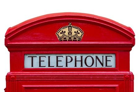 Old red telephone box  London, England photo